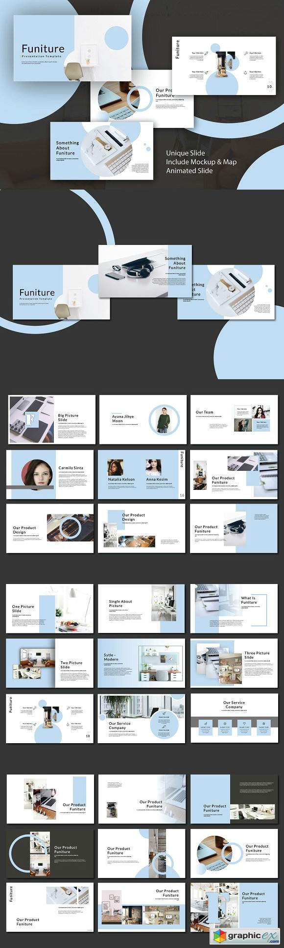 Funiture Powerpoint Template
