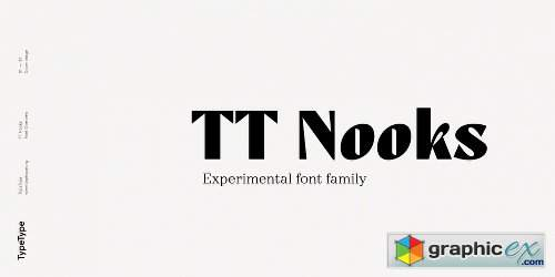 TT Nooks Font Family - 8 Fonts » Free Download Vector Stock