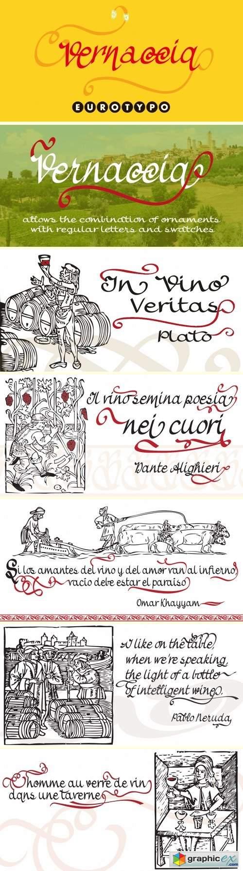Vernaccia Font Family - 4 Fonts