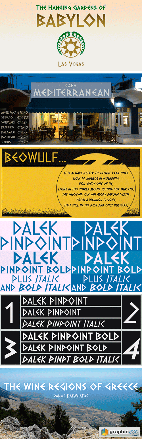 Dalek Pinpoint Font Family