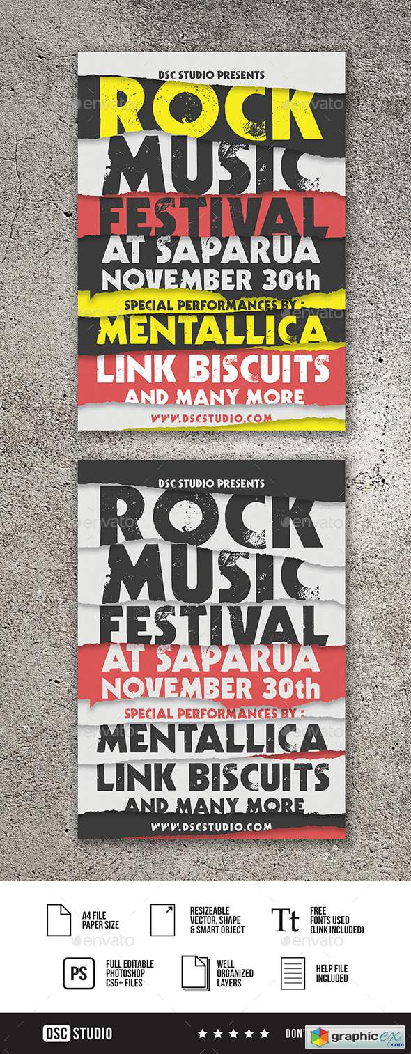 Rock Music Festival Flyer 20964236