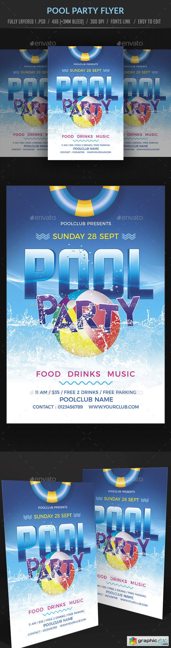 Pool Party Flyer 22355864