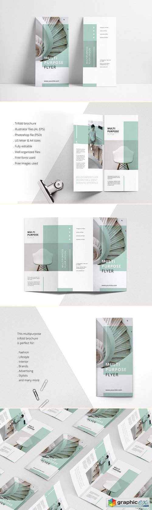 MINT Multipurpose Trifold Brochure