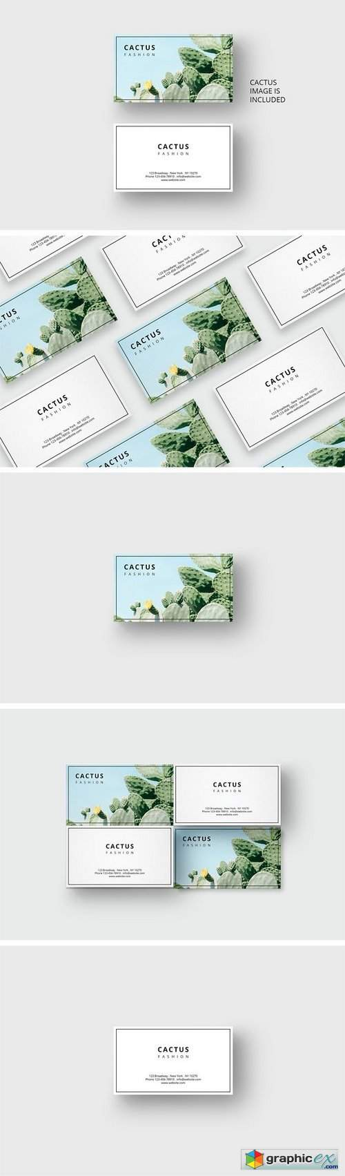 Cactus business card template 1689339