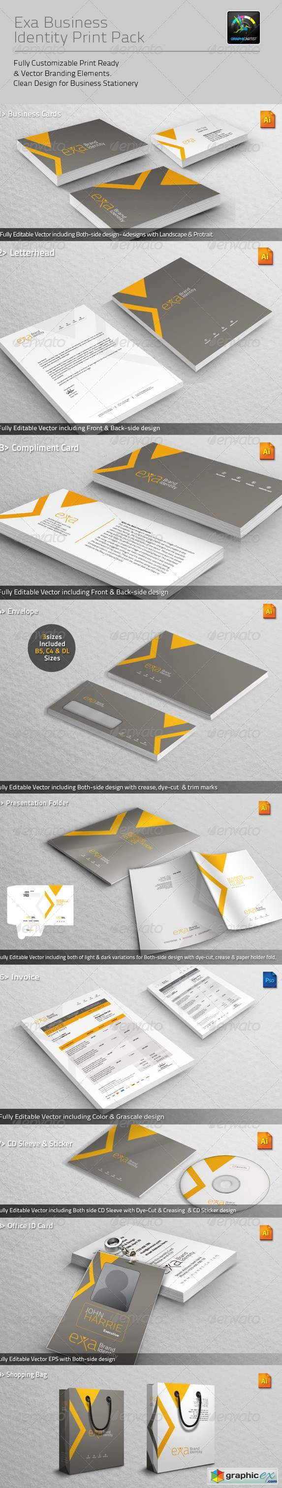 Exa Business Identity Print Pack 4605124