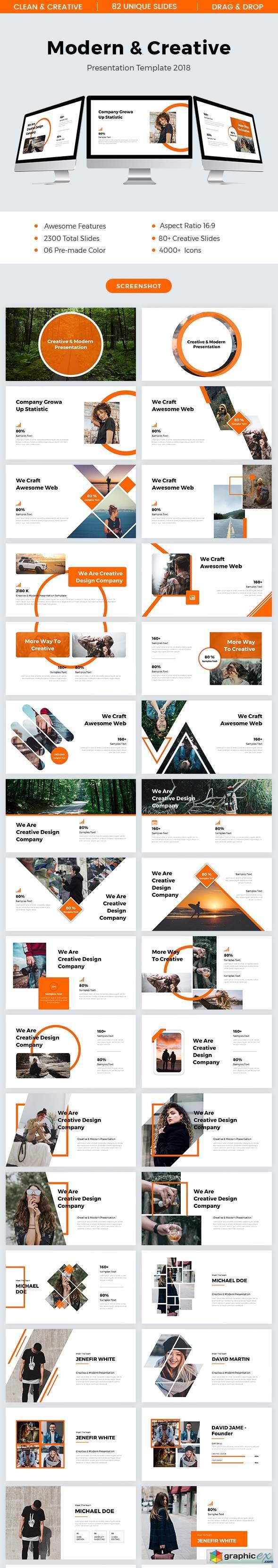 Modern & Creative Powerpoint Template 2018