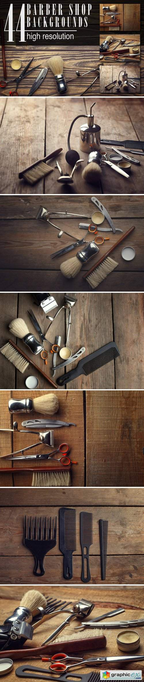 44 barber shop wooden backgrounds