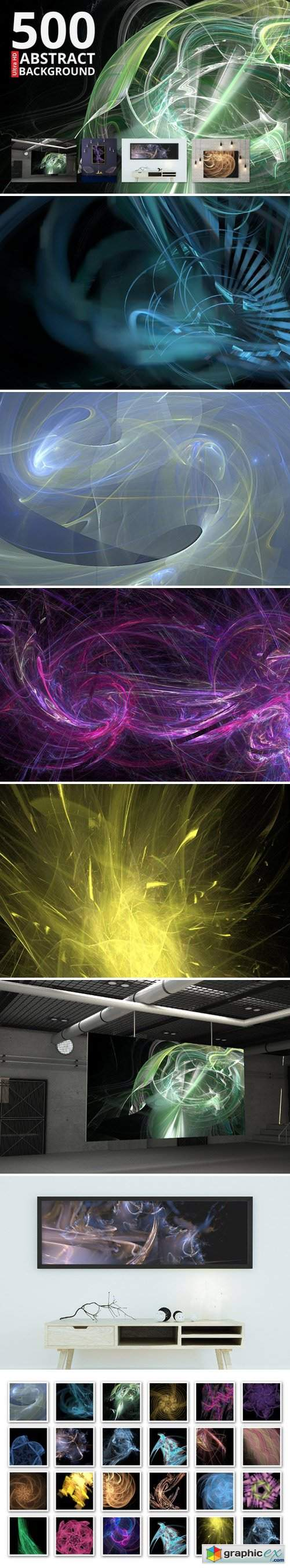500 abstract backgrounds