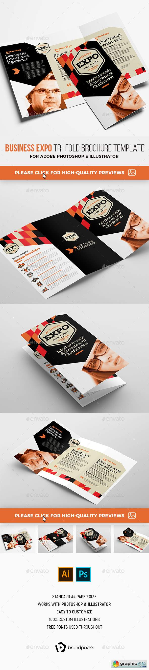 Business Expo Tri-Fold Brochure