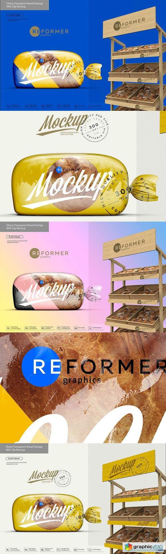 Glossy Transparent Bread Package