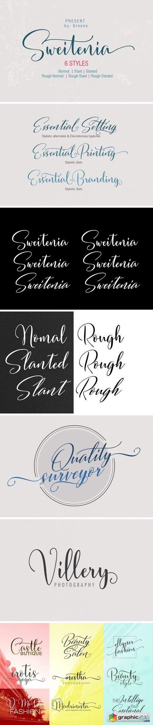Sweitenia Font Family - 6 Fonts