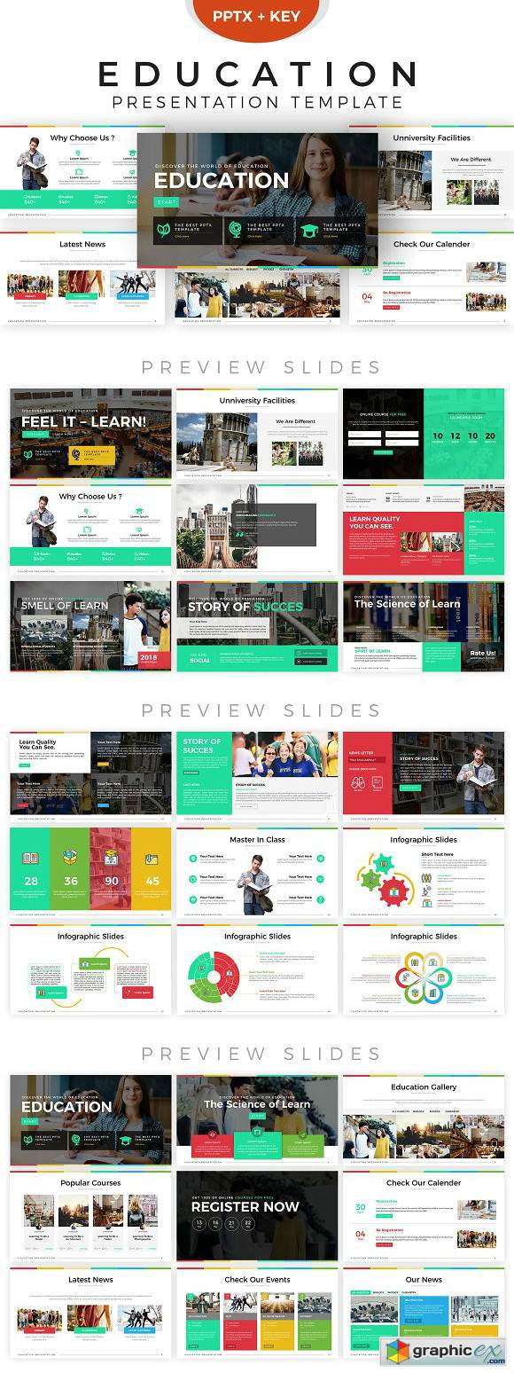 education presentation template  u00bb free download vector