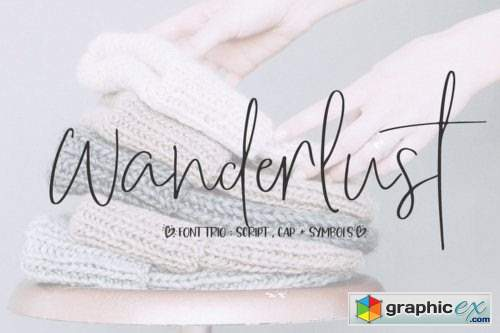 Wanderlust Trio Font Family - 5 Fonts