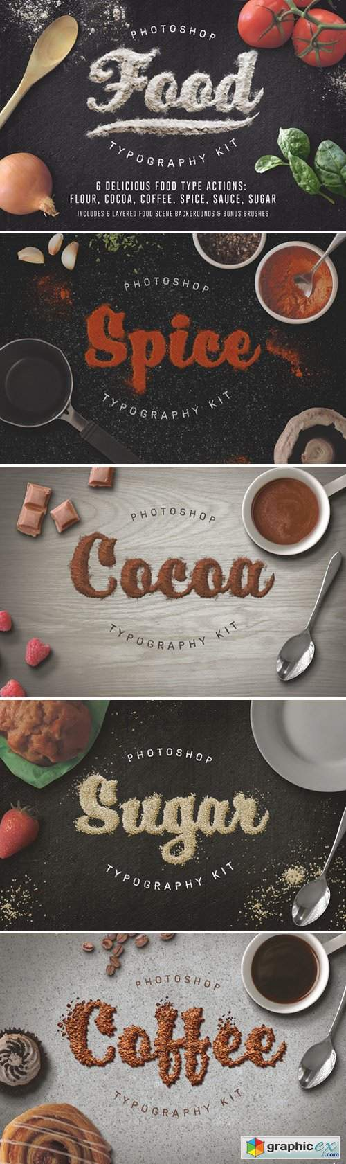 Food Typography PSD Actions 154709