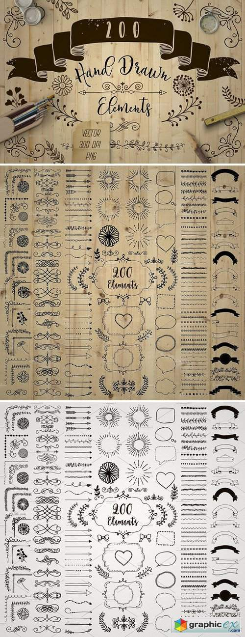 200 Decorative Elements