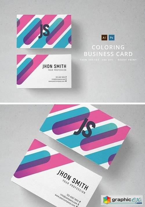 Coloring Business Card