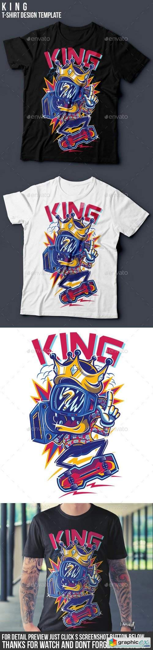 KING T-Shirt Design