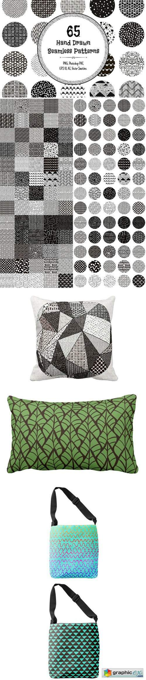 65 Monochrome Patterns