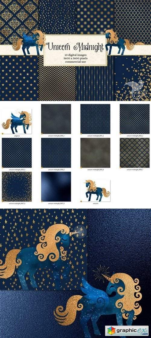 Unicorn Midnight Graphics