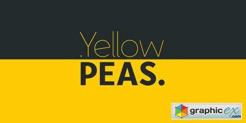 Yellow Peas Font Family - 4 Fonts