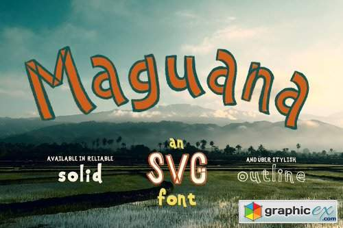 Maguana ~ Hand-drawn SVG Font 2649445