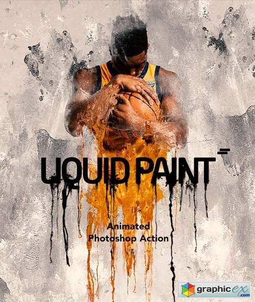 Gif Animated Liquid Paint Photoshop Action