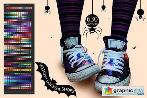Witchy Socks & Shoes Swatches