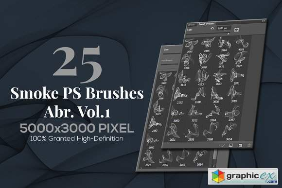 25 Smoke PS Brushes Abr Vol 1