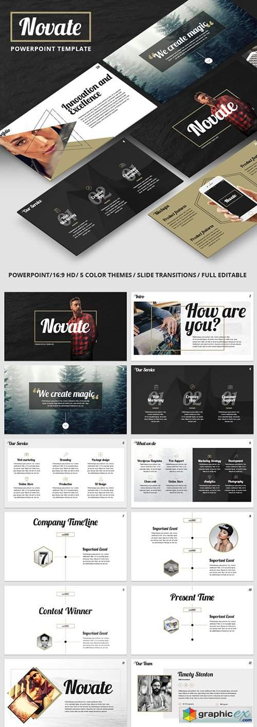 NOVATE - Creative PowerPoint Presentation Template