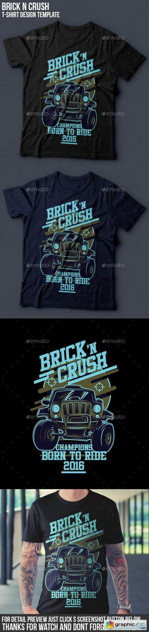 Brick n Crush T-Shirt Design