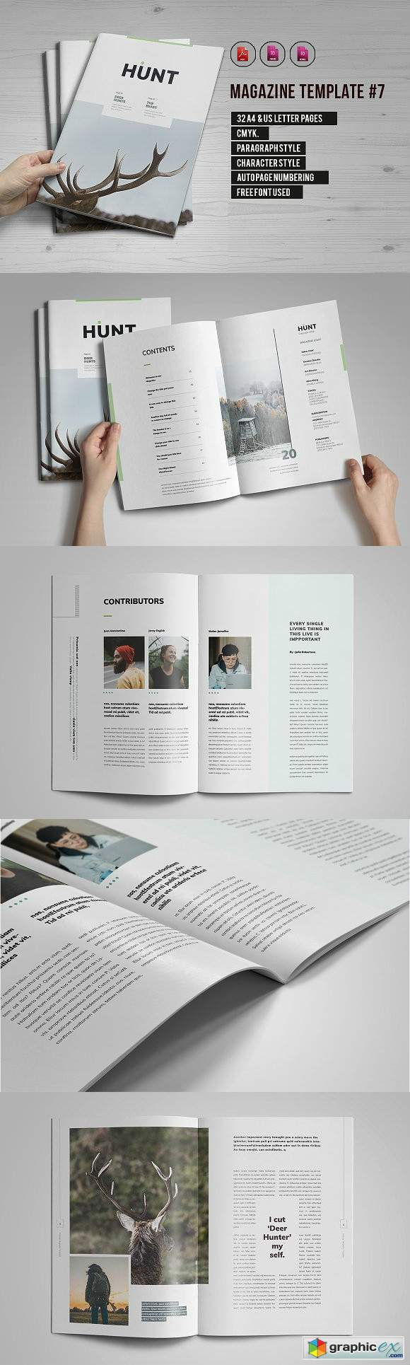 Indesign Magazine Template 7