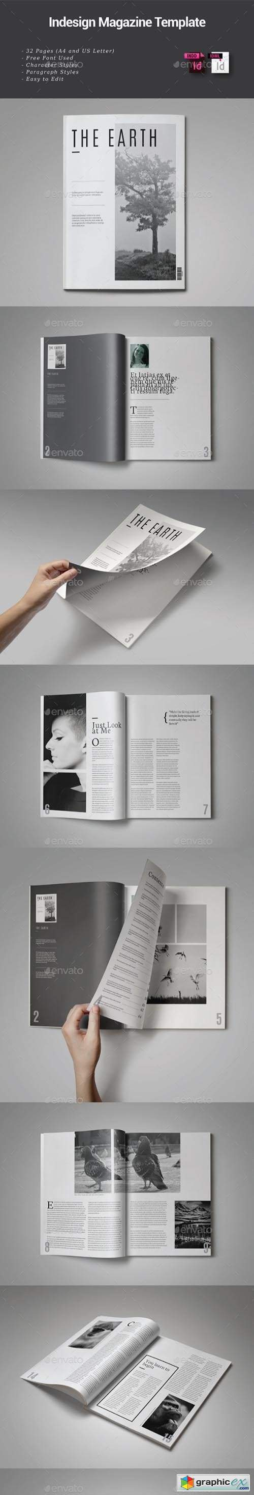 32 Pages Indesign Magazine Template