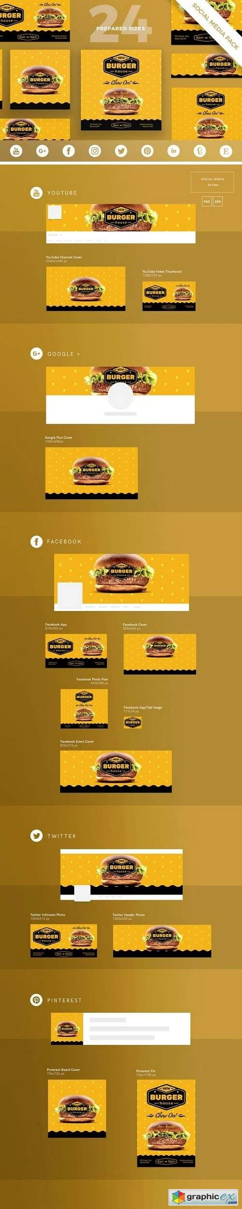 Burger House Social Media Pack