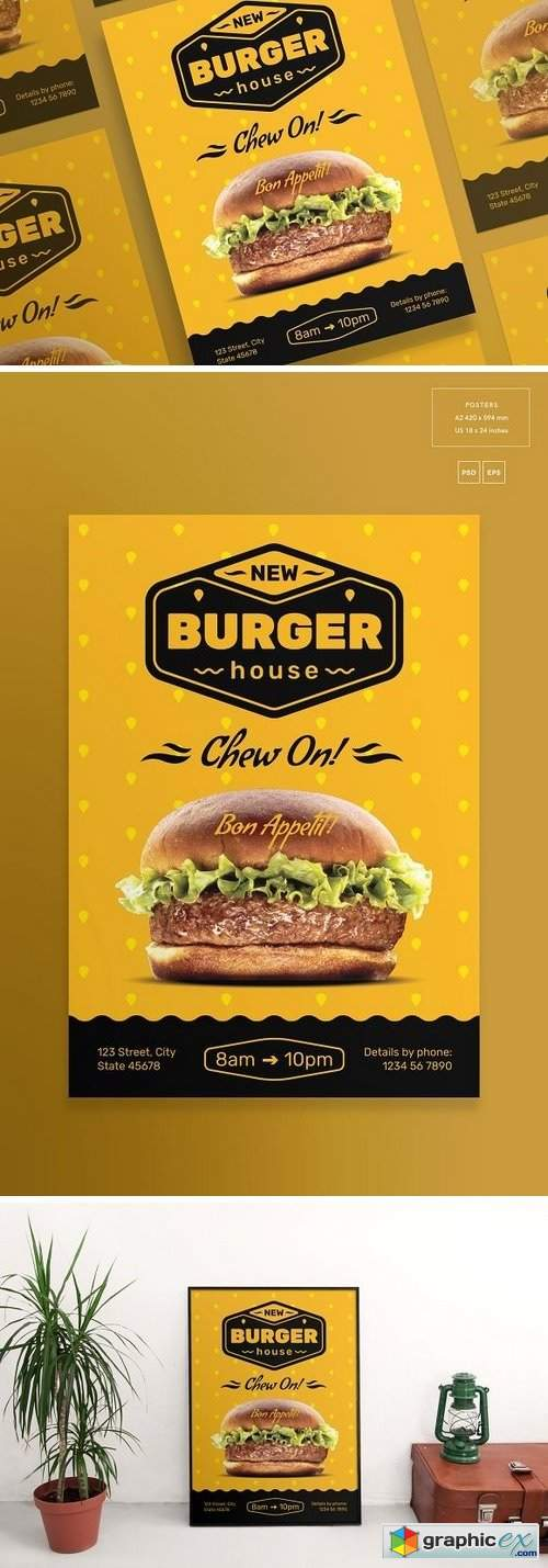 Burger House Flyers