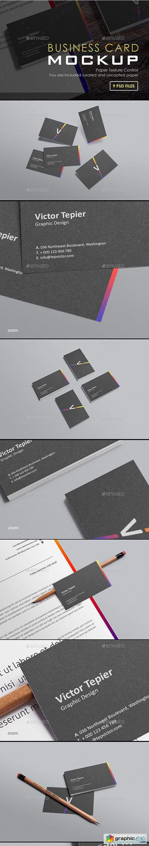 Business Card Mock-Ups / Stack Edition