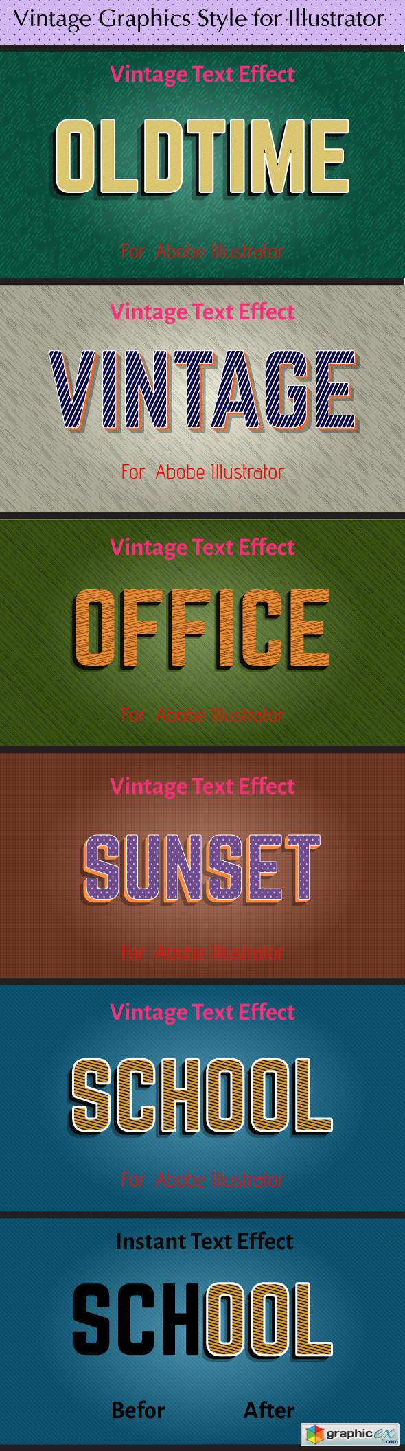 Vintage Graphics Style for Illustrator