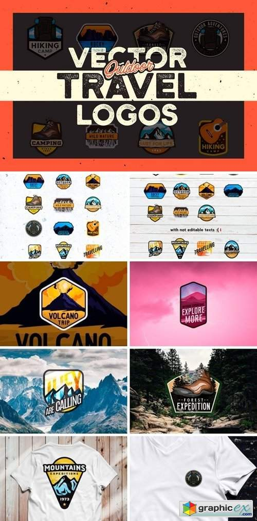 OUTDOOR TRAVEL LOGOS