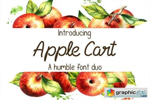 Apple Cart Font Family - 3 Fonts » Free Download Vector Stock Image