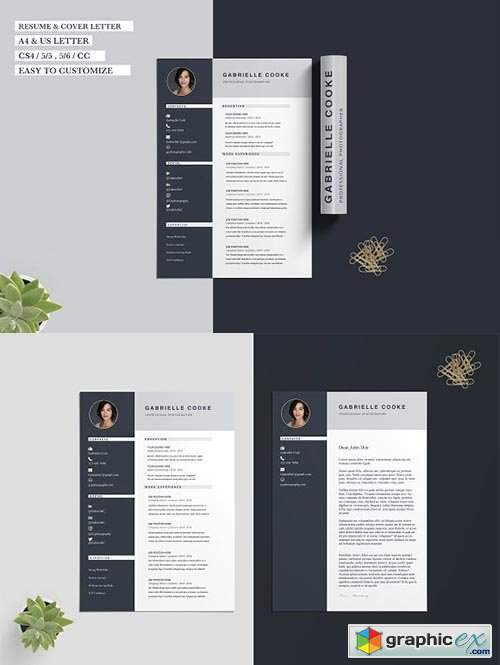 Resume CV Template Gabrielle Cooke