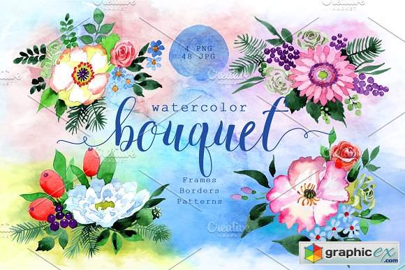 Four wonderful bouquet flowers PNG