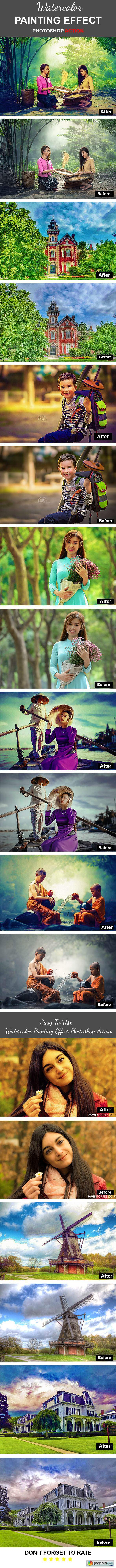Watercolor Painting Effect Photoshop Action