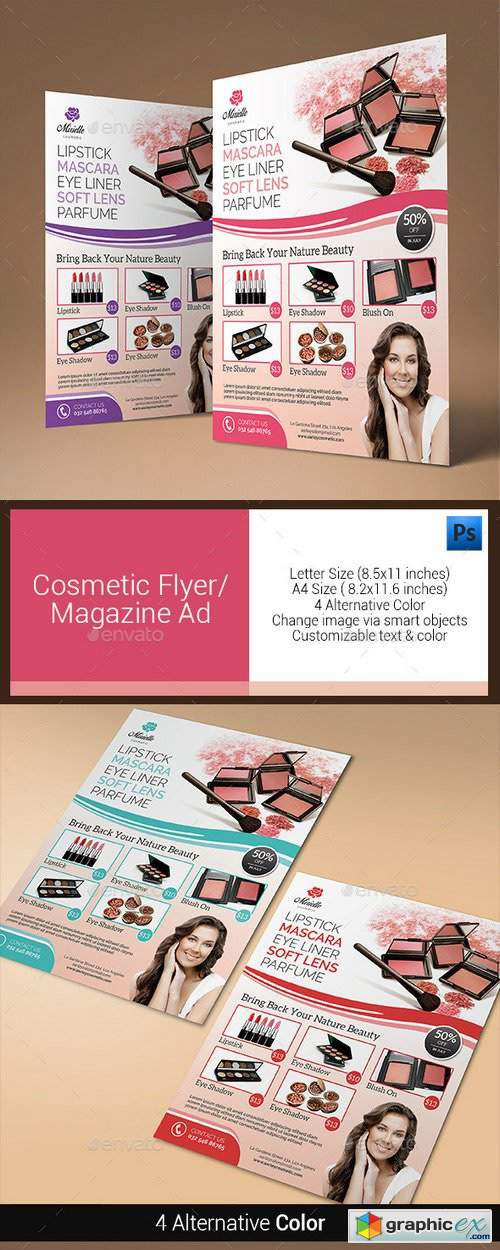 Cosmetic Flyer / Magazine Ad 10944344