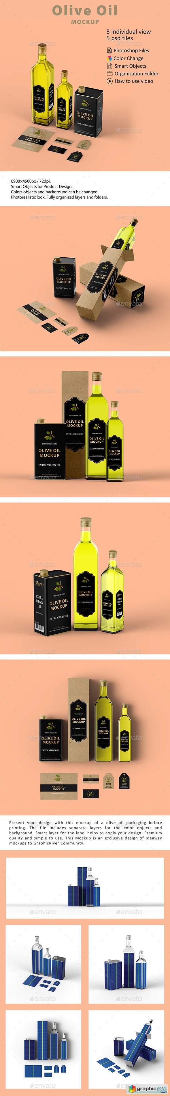 Olive Oil Packaging Mockup