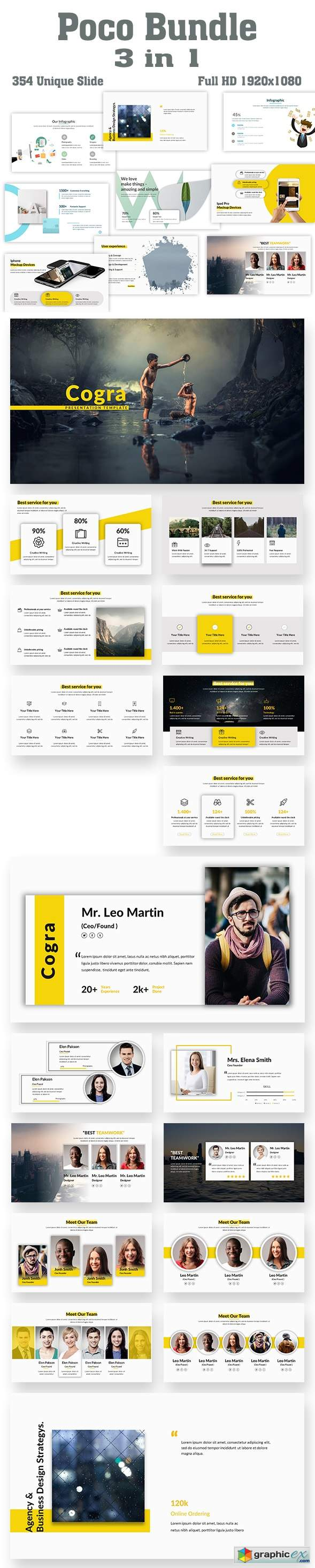 Poco Bundle 3 in 1 PowerPoint Template