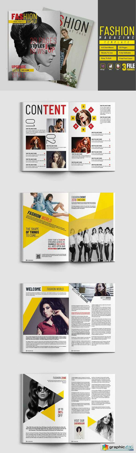 Fashion Magazine Template 2945164