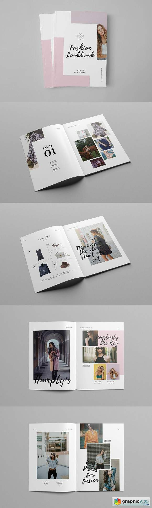 fashion catalog lookbook template free download vector stock image