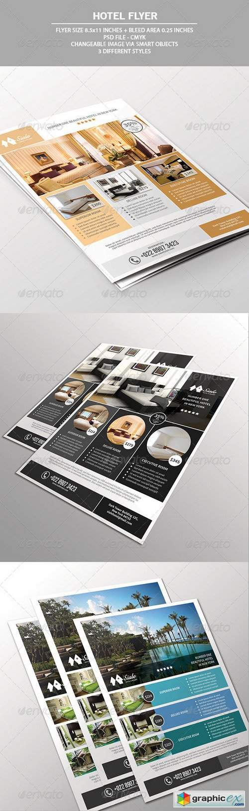 Hotel Flyer Template 7528621