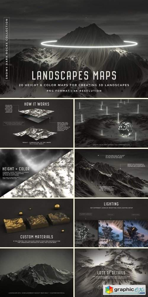 Set of 20 Landscapes maps