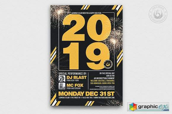 New Year Flyer Template V6 2005835