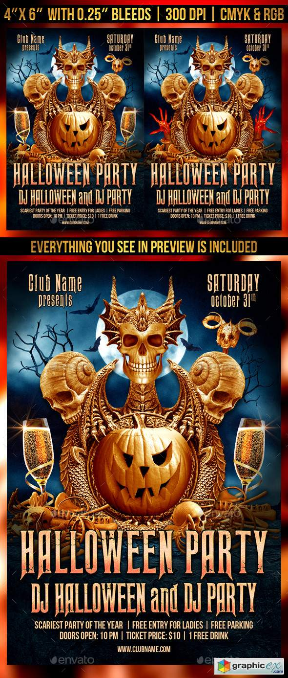 Halloween Party Flyer Template 22630931